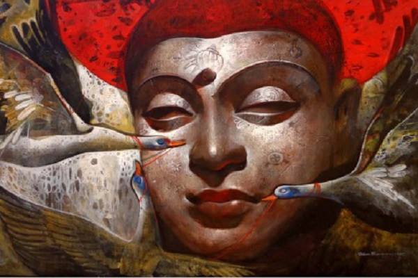 Buddha oil painting by famous artist