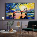 abstract art painting for hotal
