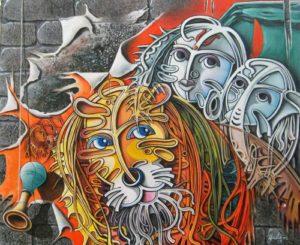 maa-durga-abstract-art-painting