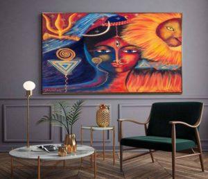 Beautiful Paintings Of Maa Durga Exibitart Blog