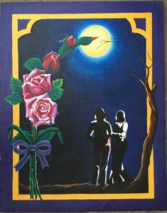 Love art painting in Dark