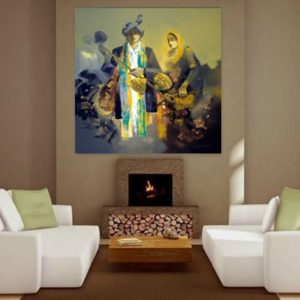 couple art painting for living room