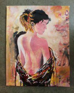 hot lady art painting acrylic