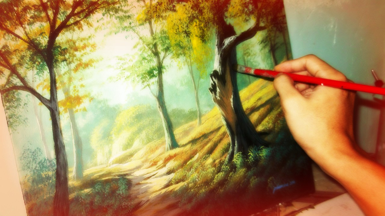 Learn to paint using my popular Misty Forest landscape techniques in this 4week online lesson series PLUS you get one bonus lesson at the end!