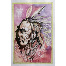 Red Indian Man Art Painting