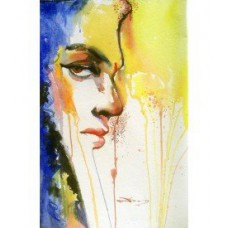 Water Color Painting of a Lady