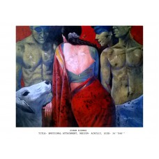 Emotional Attachment Painting Of Woman