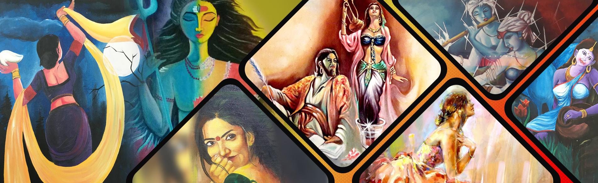 Exibitart India S Famous Handmade Paintings Gallery Buy Online