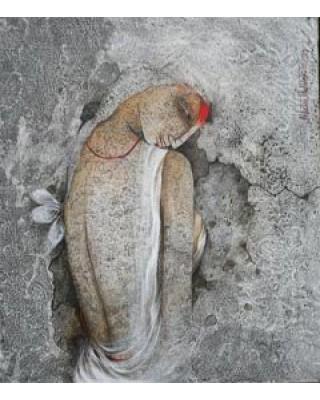 Woman Waiting with Sringar