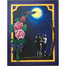 Painting of love couple