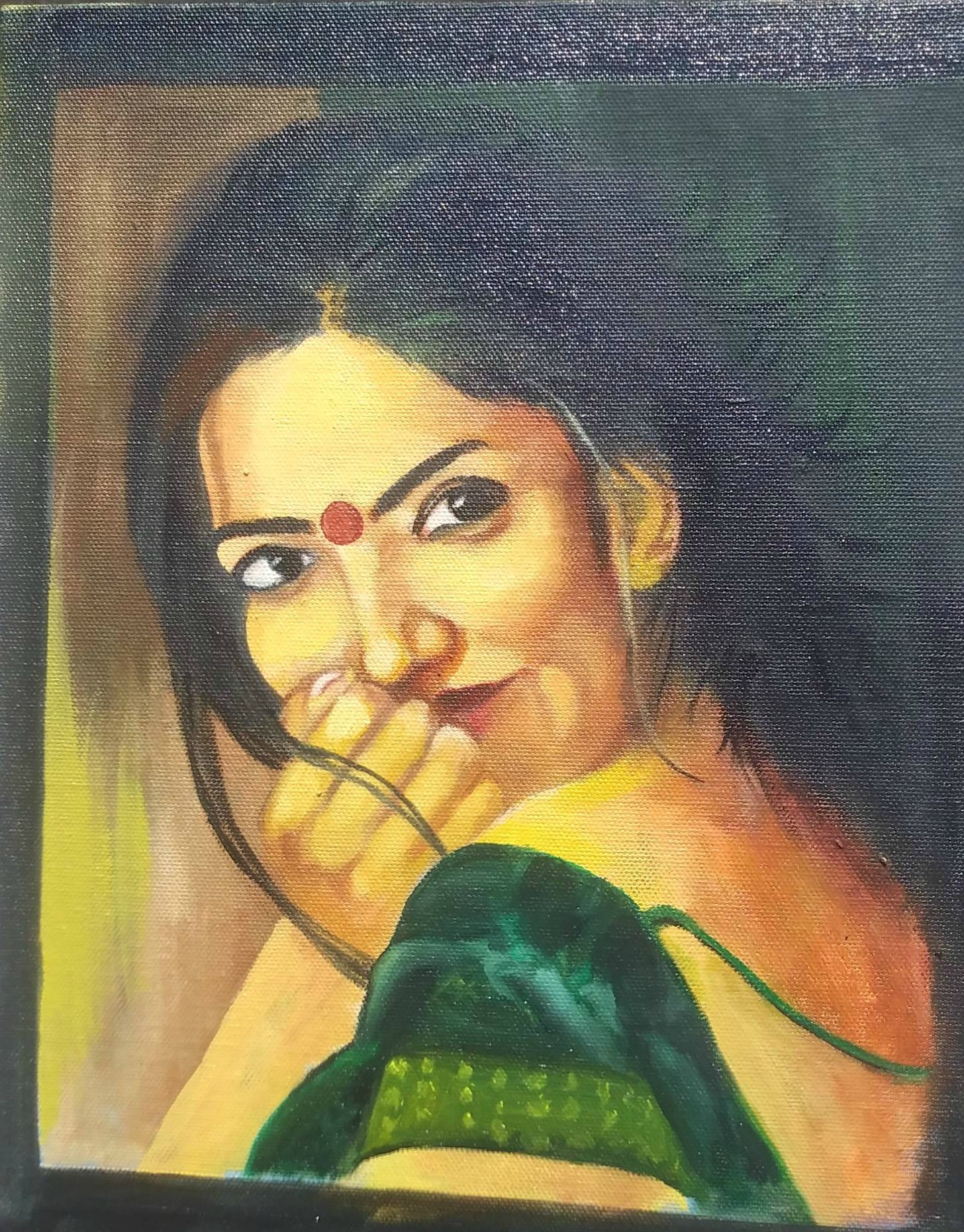Indian Women Art Painting Emotional Indian Women Art By